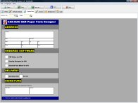 A screenshot of the program Paper Form Designer 1.0 - your own paper forms